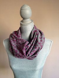 Reversible Infinity Scarf with Hidden Pocket - Cotton Knit ...