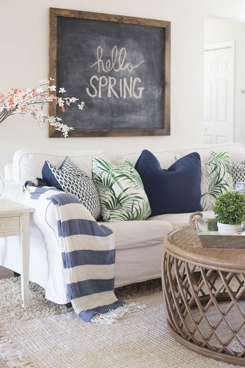 Awesome Spring Decorating Ideas For The Home Part - 12: 18 Fab Spring Home Decor Ideas - Spring Home Decor Ideas,living Room Spring  Home