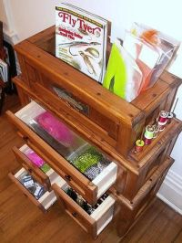 Fly Tying Material Storage Cabinet for Fly Tying