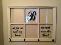 Repurposed 6 pane window as wall hanging picture frame ...