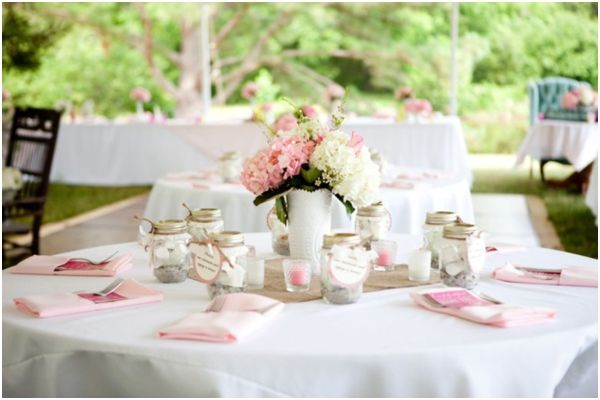 Pink & White Southern Shabby Chic Wedding From Style By