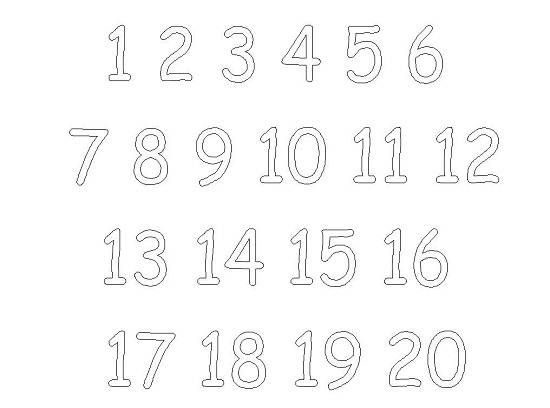 Printable Coloring Pages Numbers 1 20 Coloration