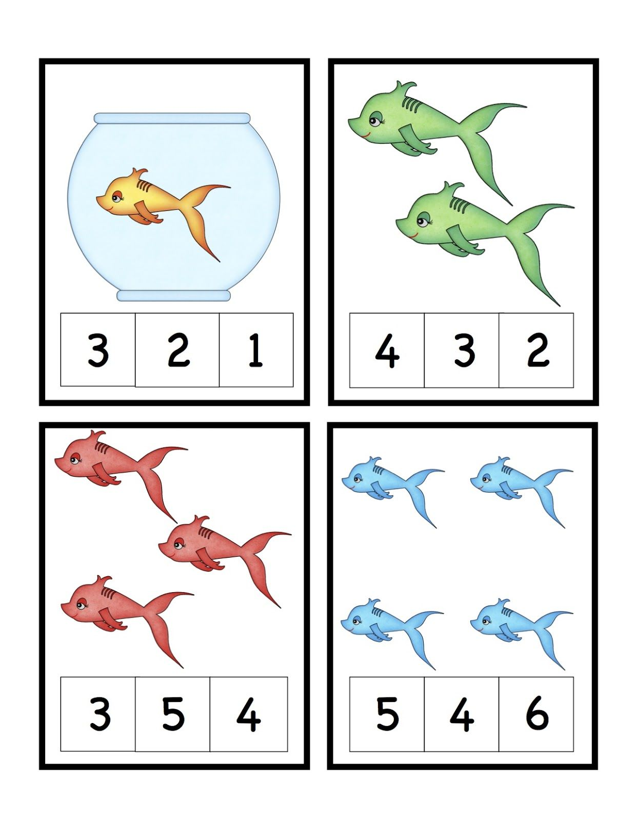Preschool Printables Cute Fish Number Printable Seuss