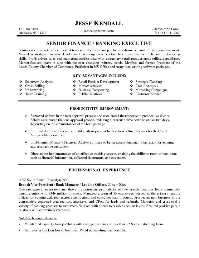 Objective In Resume For Banking Jobs