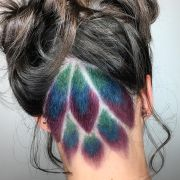 peacock undercut hair color
