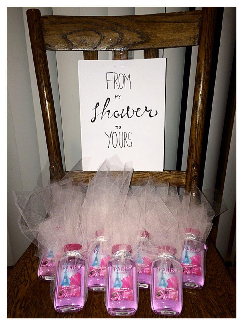 Bridal shower gift favors tulle paris themed bath body