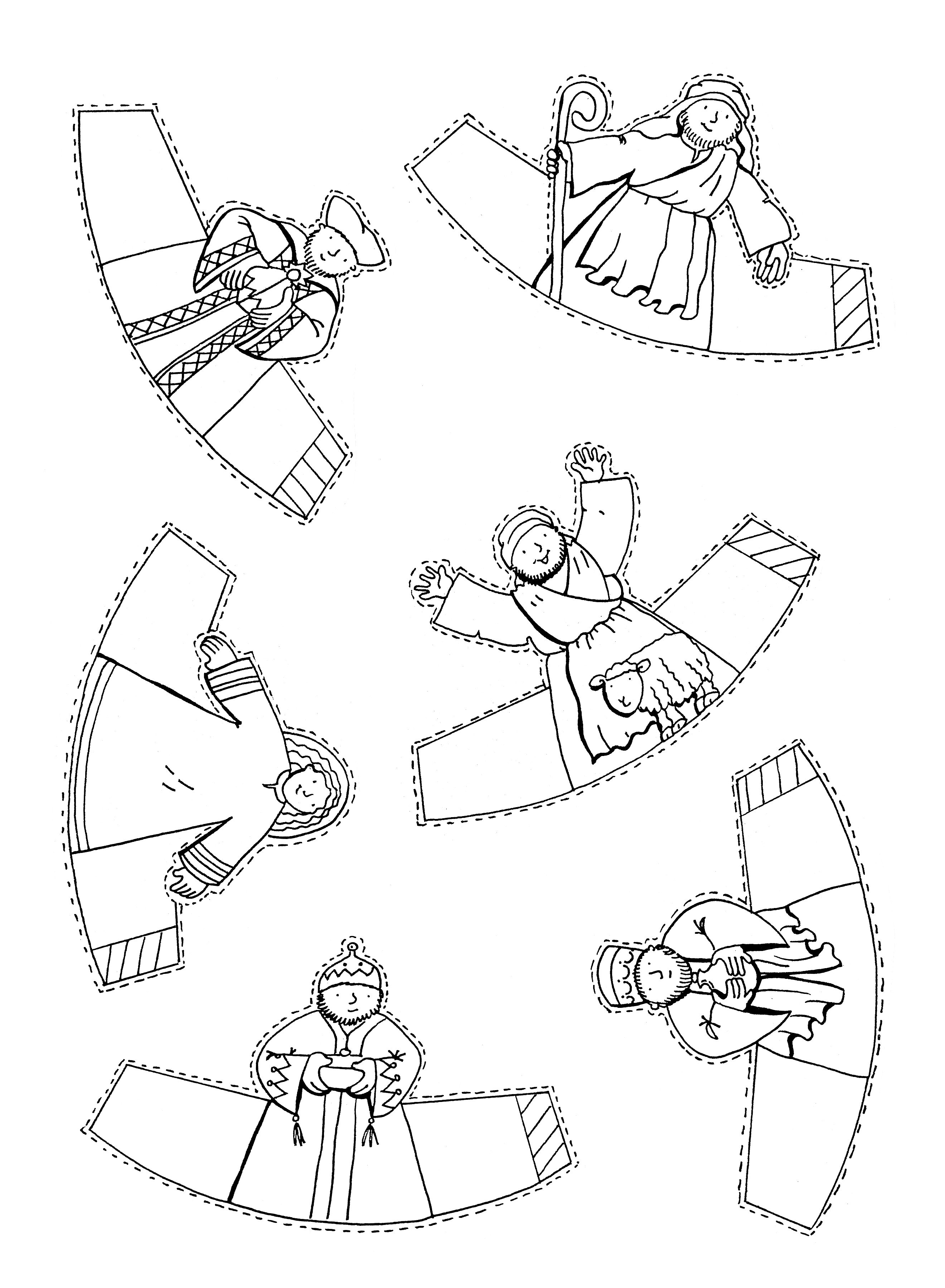 Printable Nativity Cut Out Coloring Pages Sketch Coloring Page
