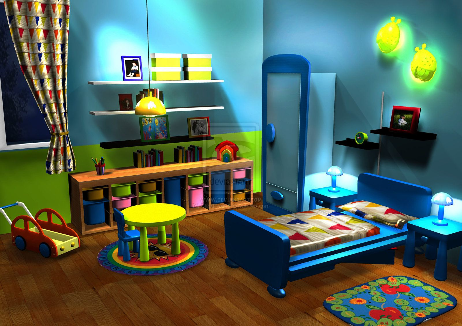 3D Baby Boys Room:.: By ~BlindEye04 On