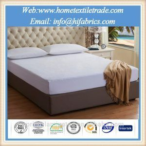 Knitted 90 Polyester 10 Spandex Waterproof Mattress Protector Full Size For Hotel And Home