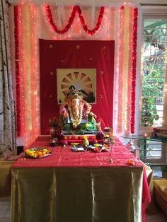 Image Result For Ganpati Decoration Ideas Home With Cloth