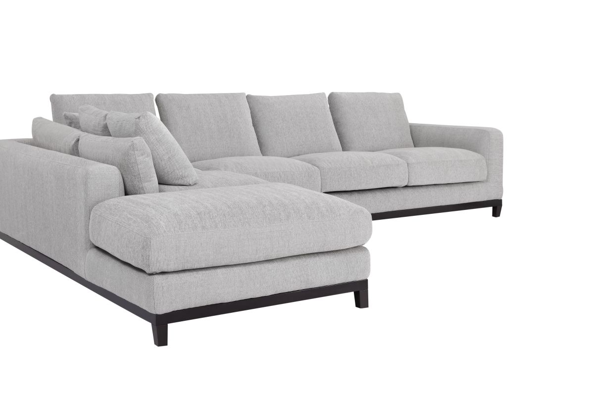 light gray sectional sofa sisi italia bocelli 2 seater power recliner kellan with left chaise condo
