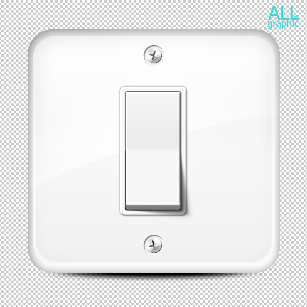 white-wall-button-light-switch-in-a-room-on-a-square-base
