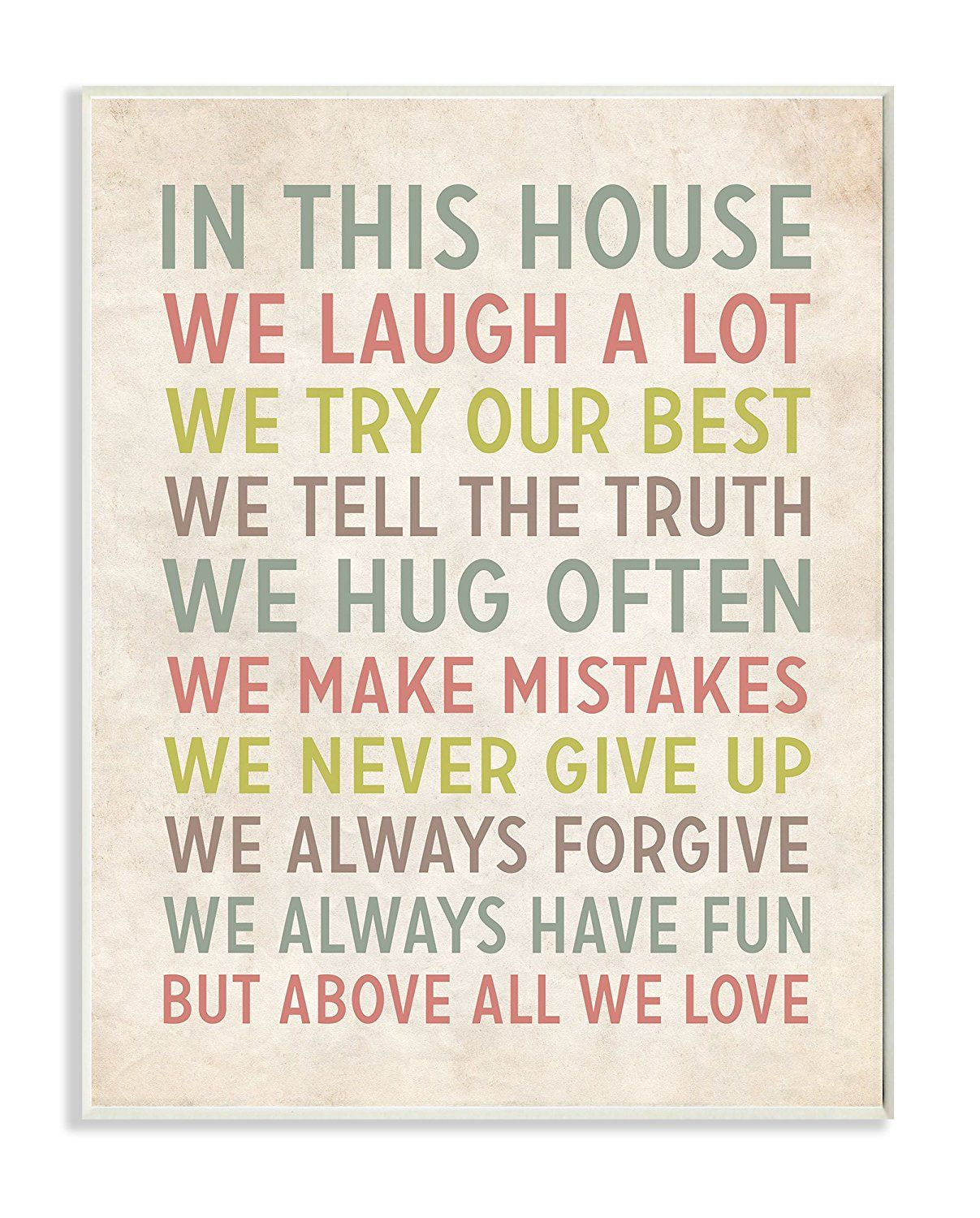 Stupell home decor in this house we inspirational art wall plaque  also rh pinterest