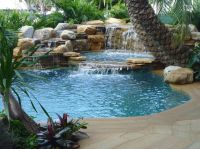 Pools With Waterfalls | Waterfalls into Pool Jacuzzi ...