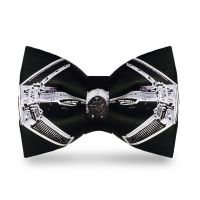 Star Wars Tie Fighter bow tie is perfectly sized and