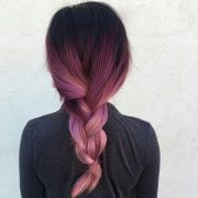 black and red ombre hair rose