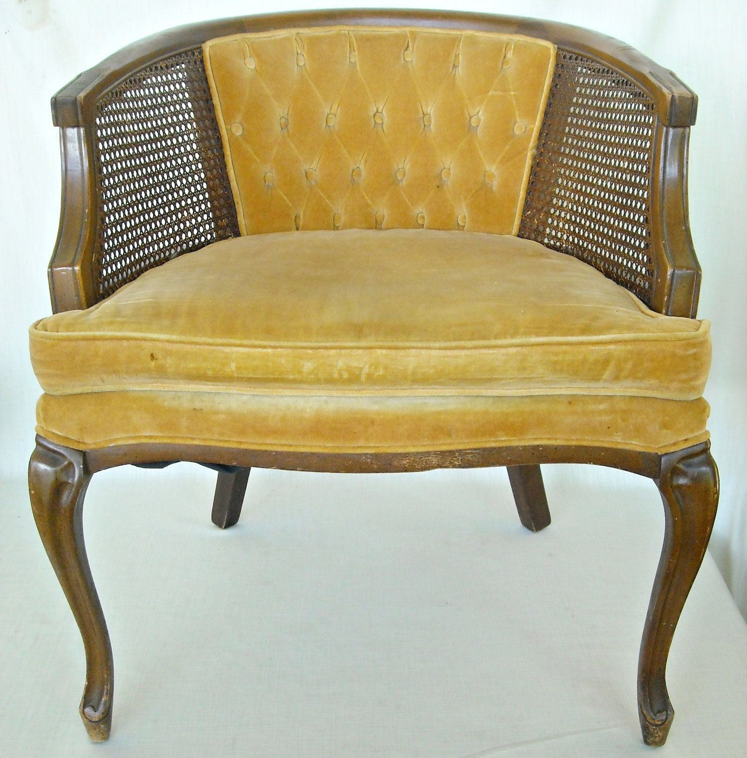 cane barrel chair outdoor swivel mid century french back hollywood