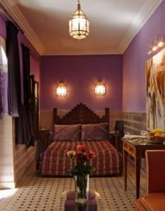 Bedroom designs interesting picture moroccan decorating ideas cool hanging lamp good purple color wall nice frame flowers table the also style walls drapes alecia pinterest rh