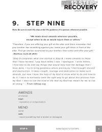 12 Step Worksheets On Control: Printables 12 Steps Of Na ...