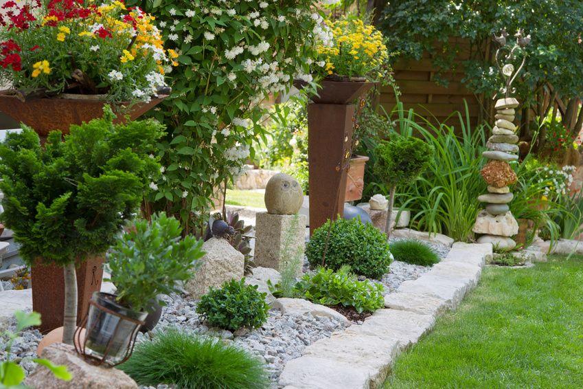 Steingartenideen Modernes Pflegeleichtes Design Garten