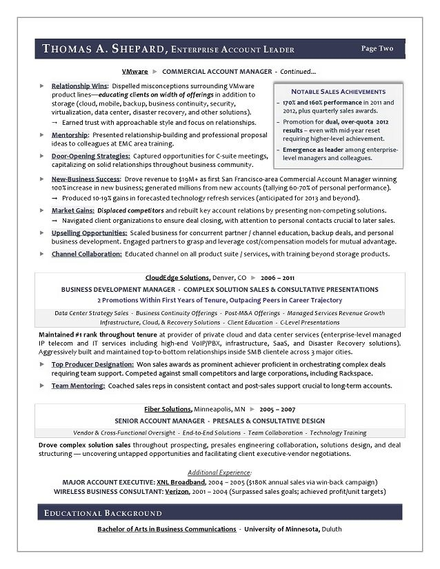 Winning Sales Resume Examples Resume Sample For A Sales Executive