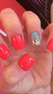 starfish and coral nails