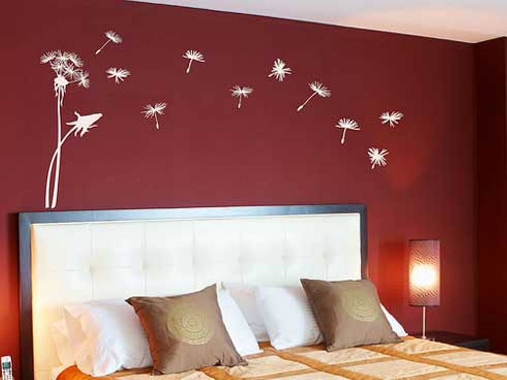 Red Bedroom Wall Painting Design Ideas