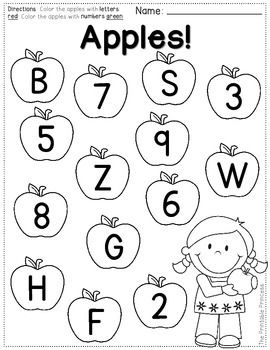 FREEBIE! Color the letters one color. Color the numbers a
