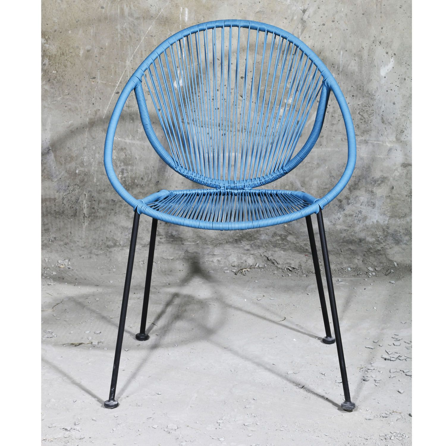 String Chair Outfit Garden Metal And Pvc String Chair In Blue The Uk