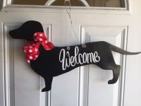 Dachshund Door Hanger, Dog Door Hanger, Dog Door ...
