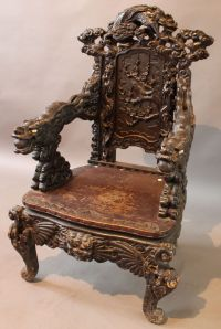 Antique Chinese Dragon Chair | Antique Furniture