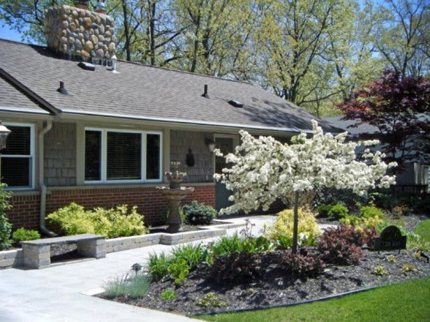 Landscaping For A Michigan Ranch Outdoor Space Pinterest