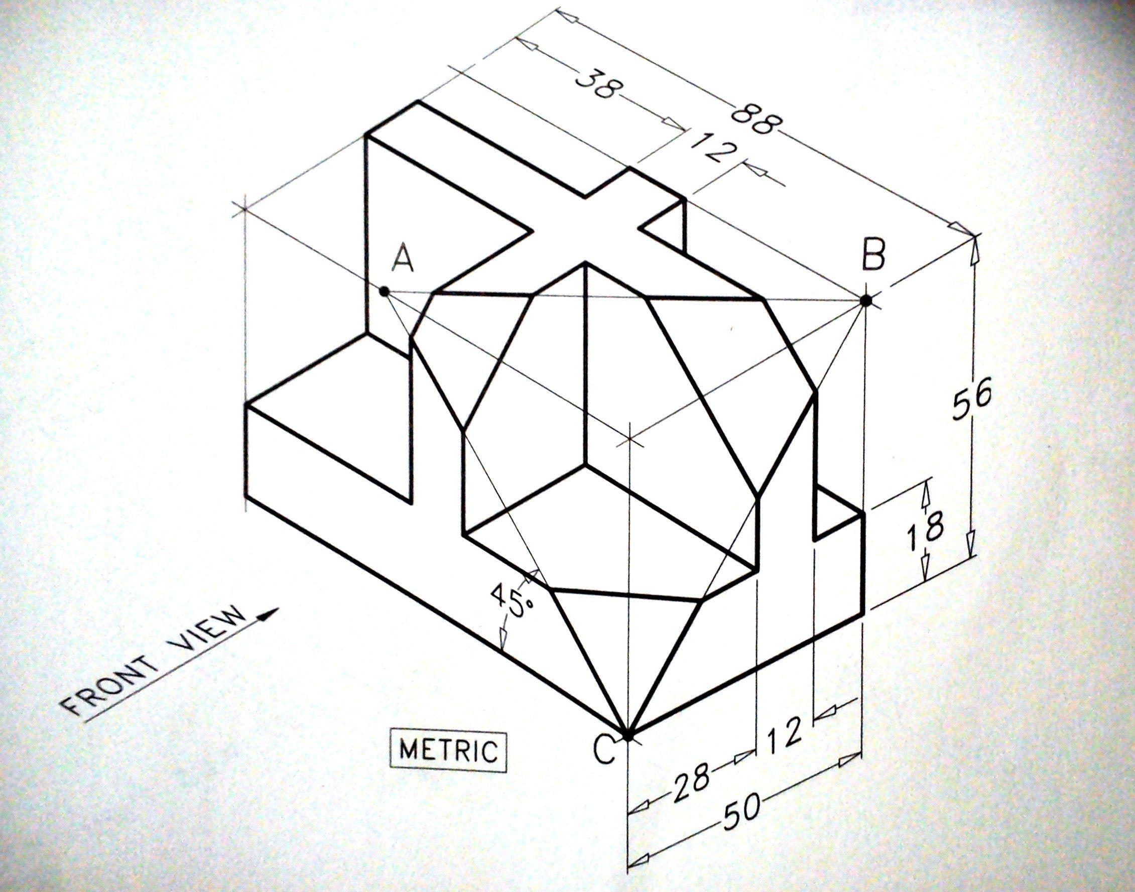 Isometric Drawing Exercise Isometric Draw