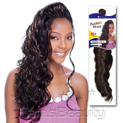 FreeTress Synthetic Hair Crochet Braids Paradise Curl 18