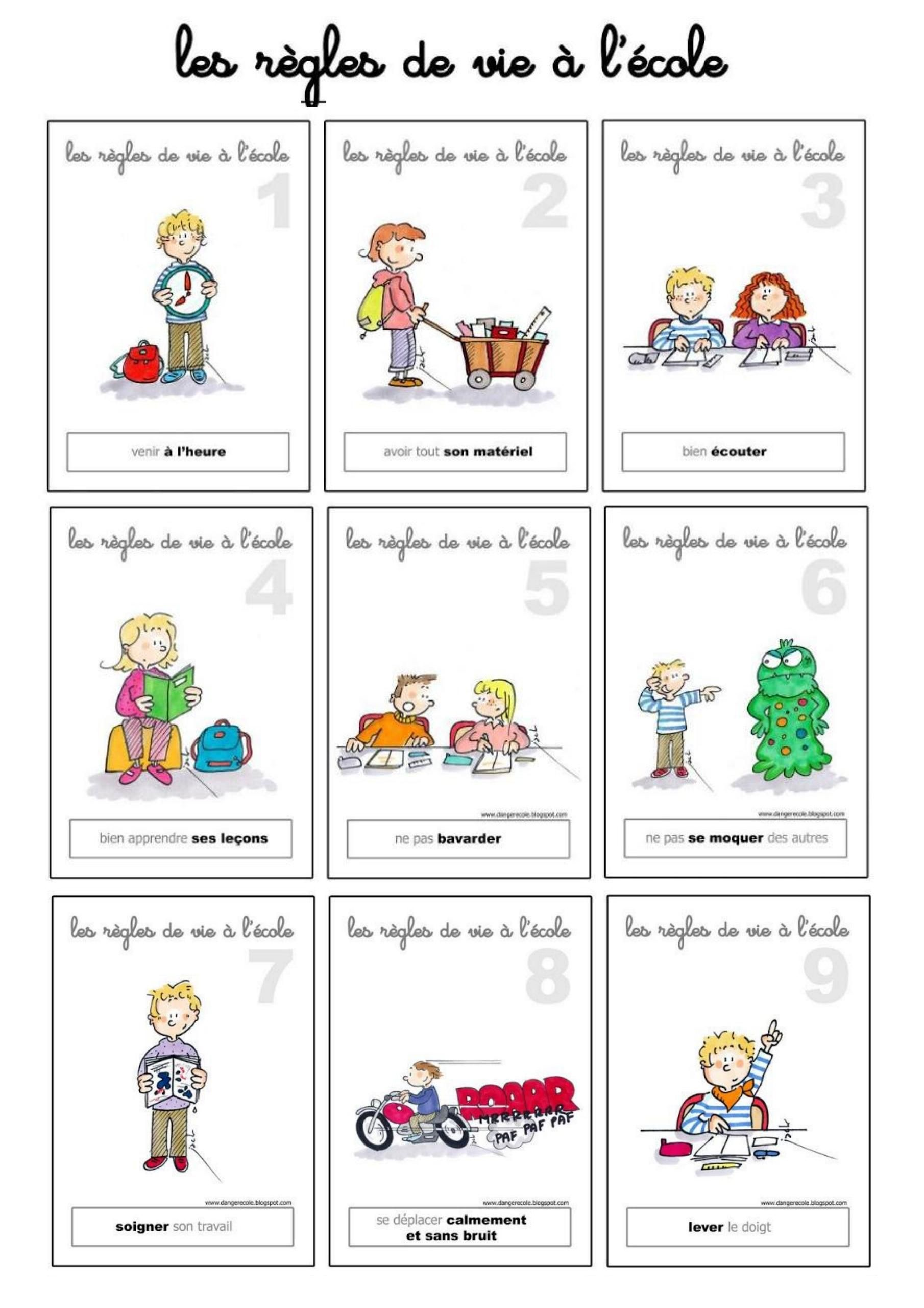01 Rentree Et Les Regles A L Ecole