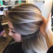 stylish blonde balayage color