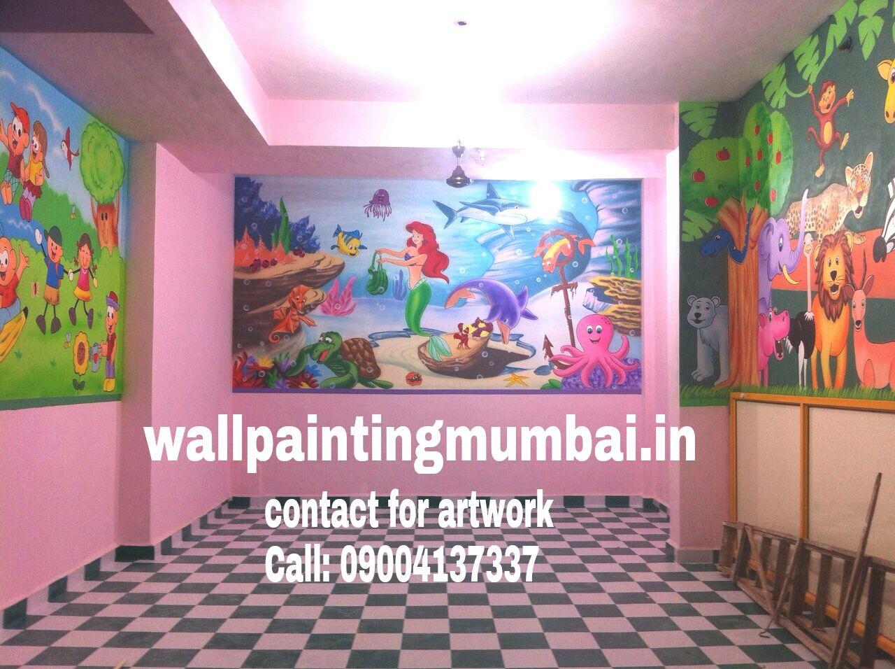 PLAY SCHOOL WALL ART: Playschool or Preschool Classroom