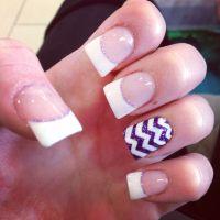 French Manicure Designs Purple | www.imgkid.com - The ...