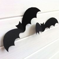Halloween Bat shapes cutouts. Halloween party decoration ...