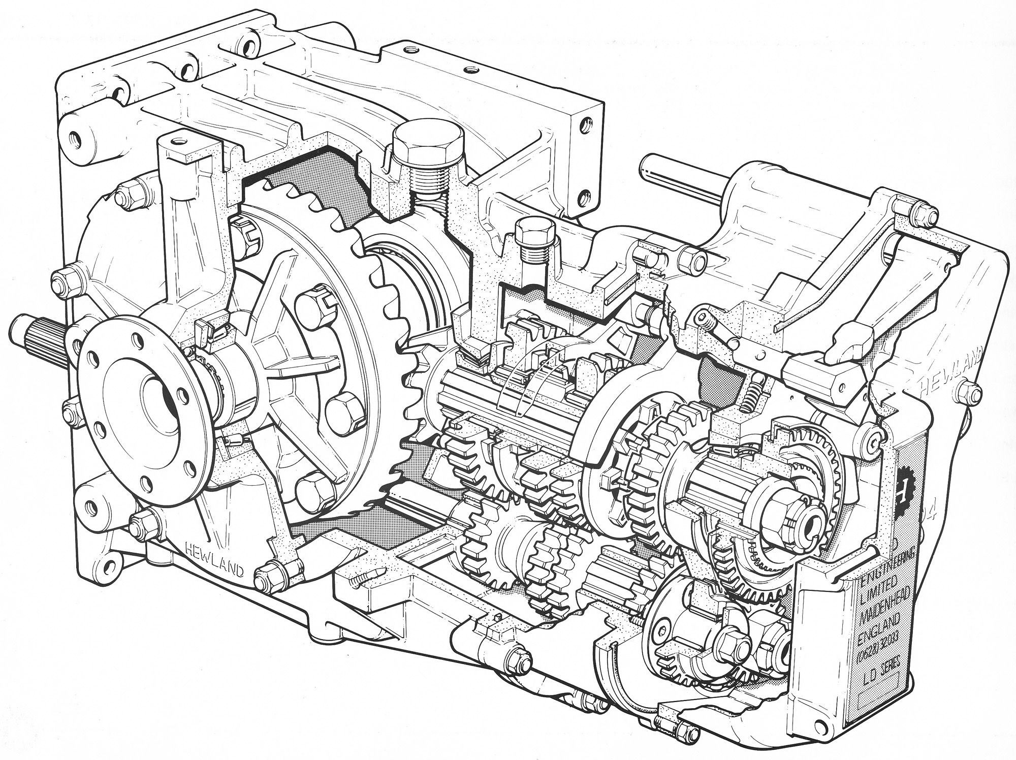 Hewland Ld200 Gearbox Illustrated By Andrew Kitson