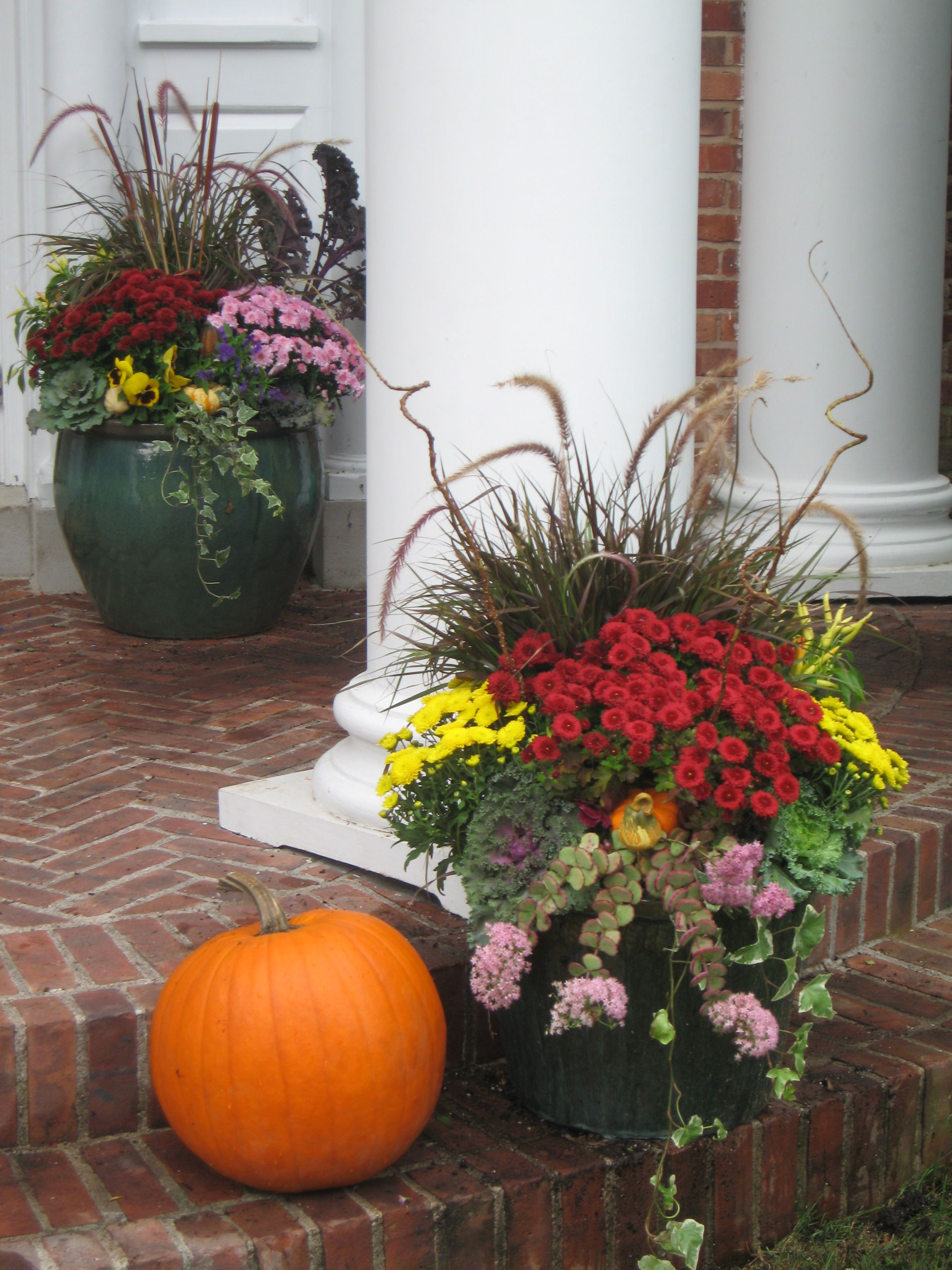 Fall Decor Ideas Beautiful Fall Planter With Garden Mums And
