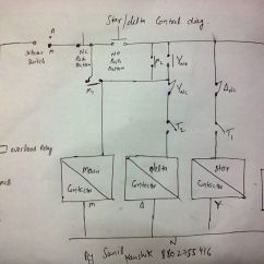 3 Phase Star Delta Motor Wiring Diagram Can Lights Electrical Contactor Additionally