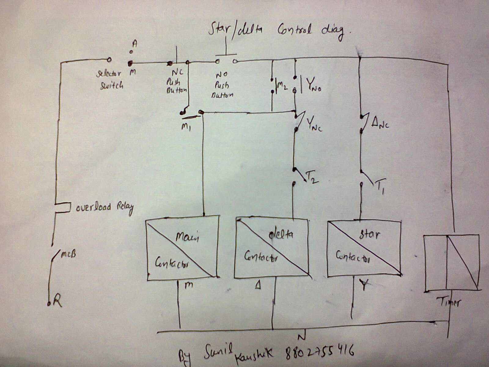 star delta starter wiring diagram with timer rj45 cat5e electrical contactor additionally