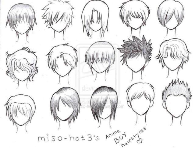 Different Types Of Anime Hair Google Search How To Art