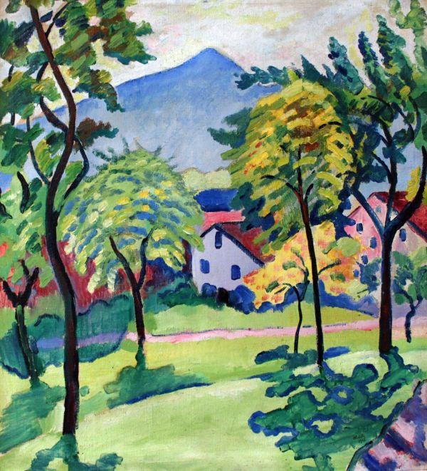 Urgetocreate August Macke Tegernsee Landscape 1910 Expressiv