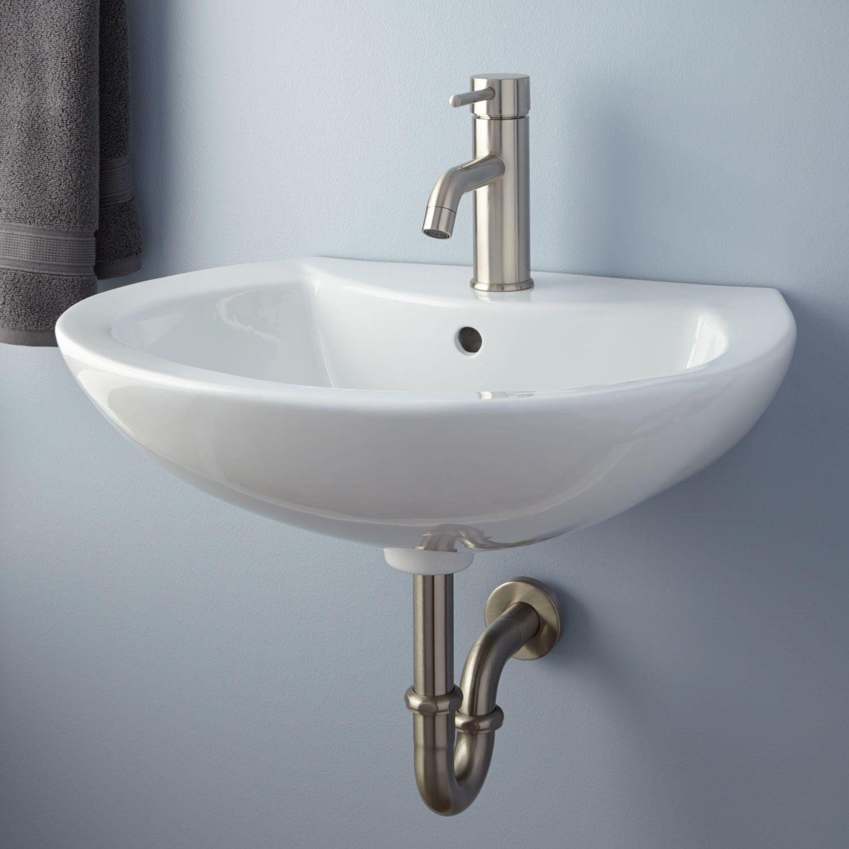 Maisie Porcelain WallMount Bathroom Sink  Wall mount