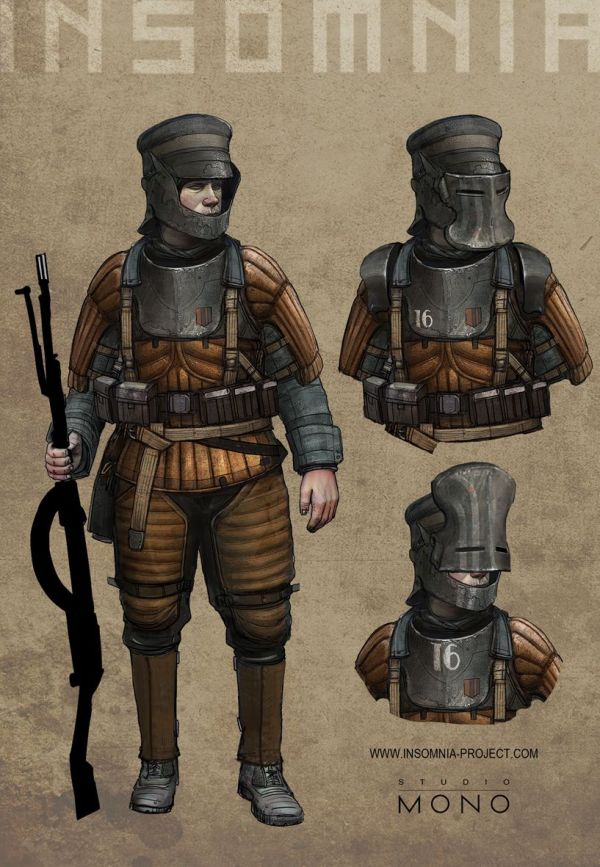 Soldier Steampunk Concept Art Character