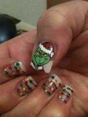 painted fingernails