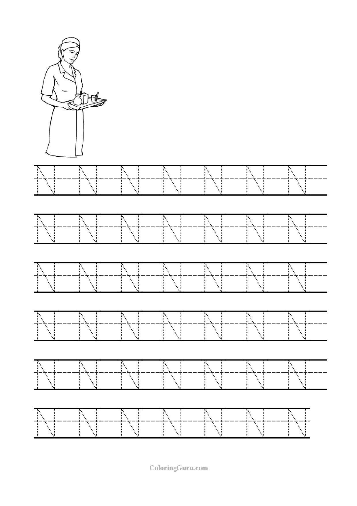 Letter N Worksheet Mybook