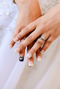 Beautiful bridal nail art for your wedding day. | Disney ...